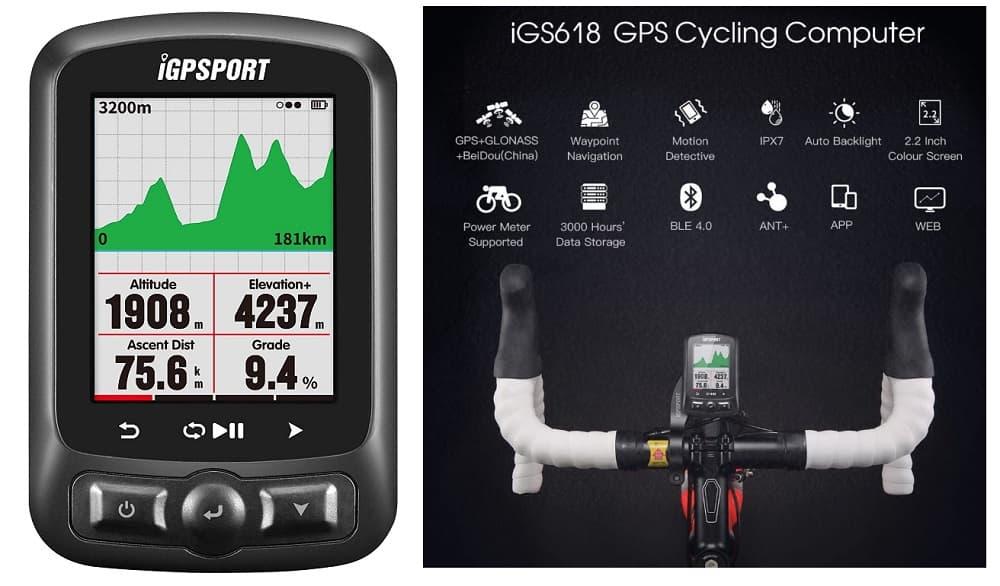 Ciclocomputador iGPSPORT GPS iGS618 inalámbrico accesoriosdebicicleta